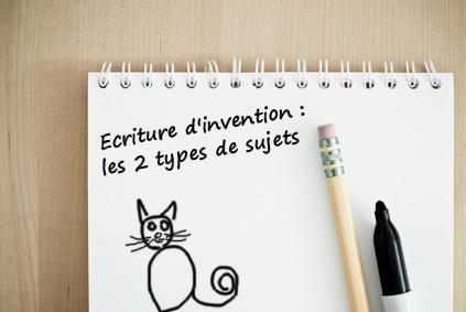 ecriture d'invention les types de sujets