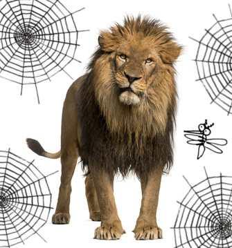 le lion et le moucheron la fontaine