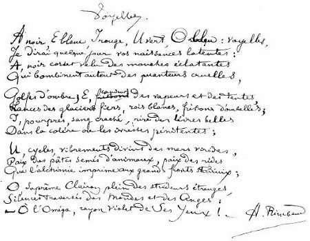 Voyelles rimbaud commentaire compos - Lecture analytique le dormeur du val arthur rimbaud ...