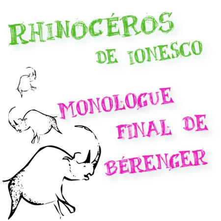 rhinocéros monologue final de bérenger