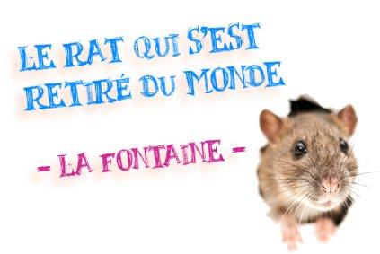 le rat qui s'est retiré du monde la fontaine