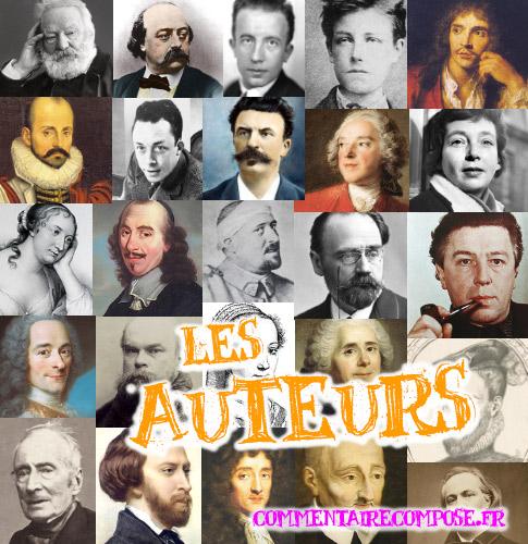 auteurs de la littérature française