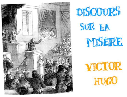 victor hugo discours sur la misère