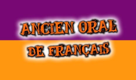 ancien oral de français de 2001 à 2019