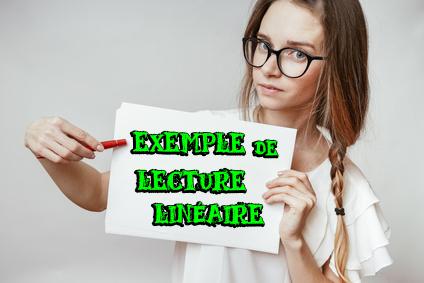 exemple d'analyse linéaire