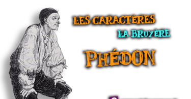 portrait de phédon les caractères
